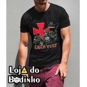 Camiseta Deus Vult mod. 01 - 3 Opções de Cores