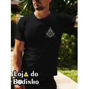 Camiseta - Maçonaria Esquadro e Compasso - 2 Opções de cor.