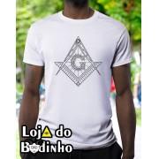Camiseta - Maçonaria Esquadro e Compasso mod. 02 - 2 Opções de cor.