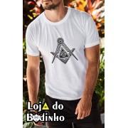 Camiseta - Maçonaria Esquadro e Compasso + Olho da Providência - 2 Opções de cor.