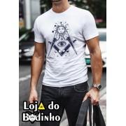 Camiseta OLHO DE HORUS + ESQUADRO E COMPASSO