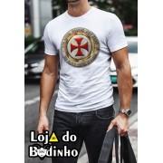 Camiseta Selo Templário mod. 05 - 3 Opções de Cores