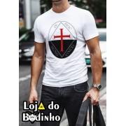 Camiseta Cruz Templária mod. 14 - 3 Opções de Cores