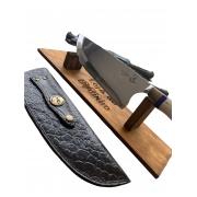 Faca BIG 10 pol. Picanheira & Cutelo com Brasão Maçonaria - Aço inox 420 (faca única)