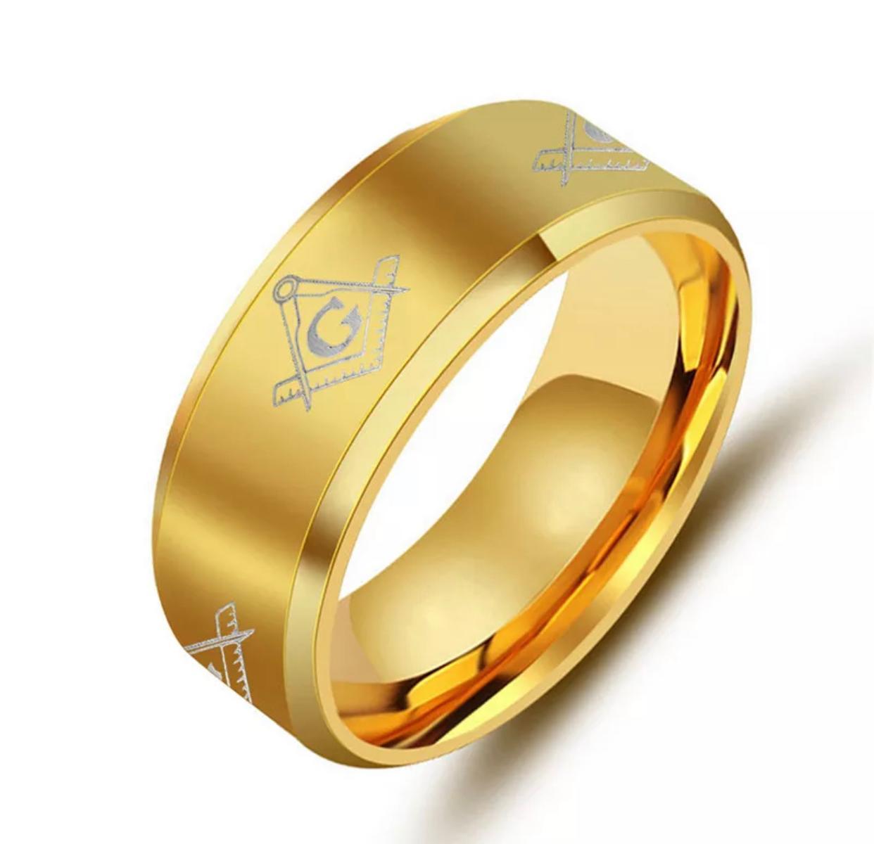 Anel Aço Inox - Gold