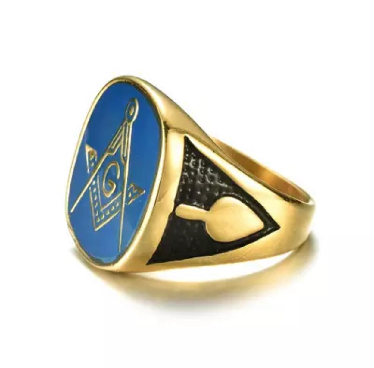 Anel Gold com Azul - Super Luxo