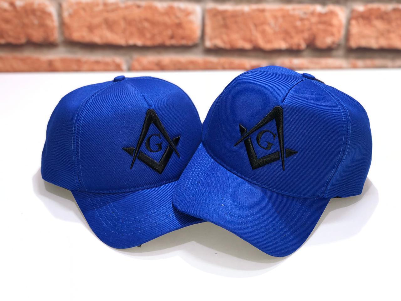 Boné Azul Maçonaria - Bordado em Alto relevo Azul. (lançamento)