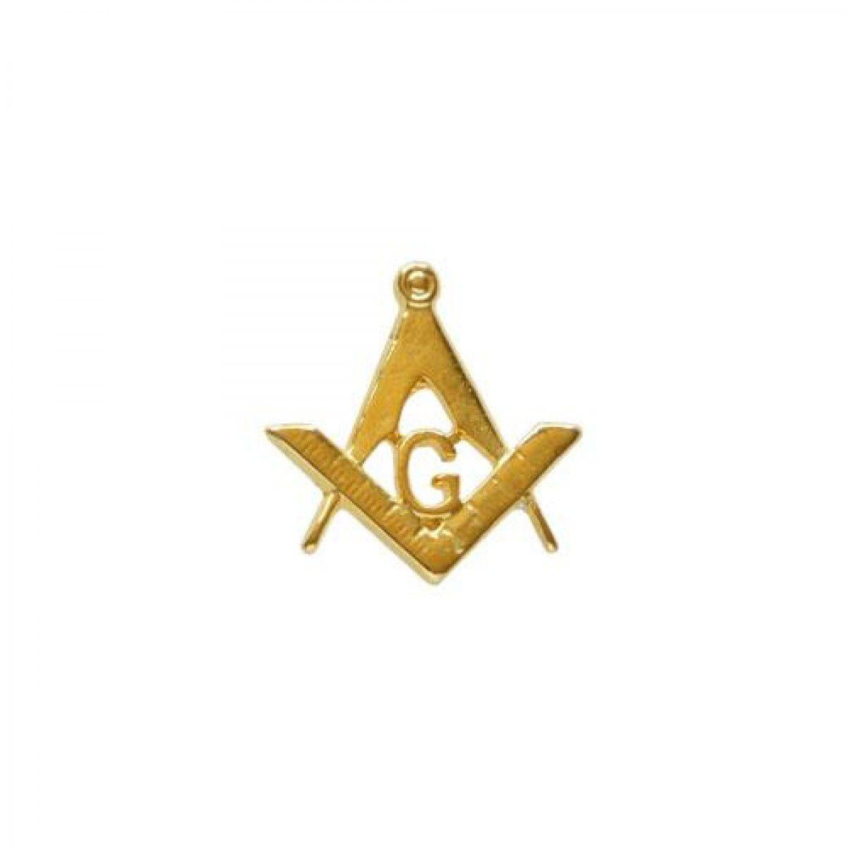 Boton Esquadro e Compasso Vazado Liso dourado