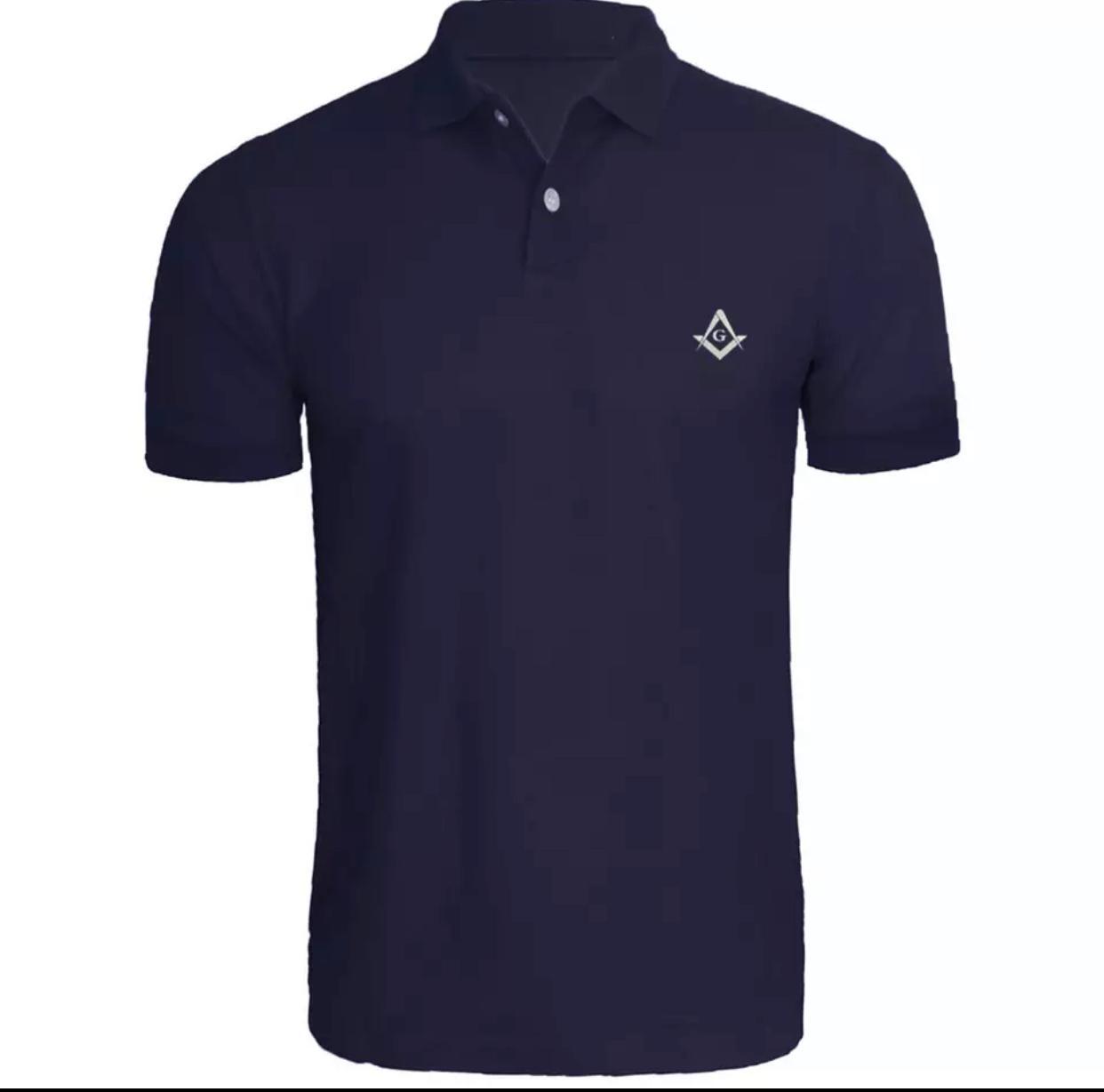 Camisa Polo Maçonaria - Azul