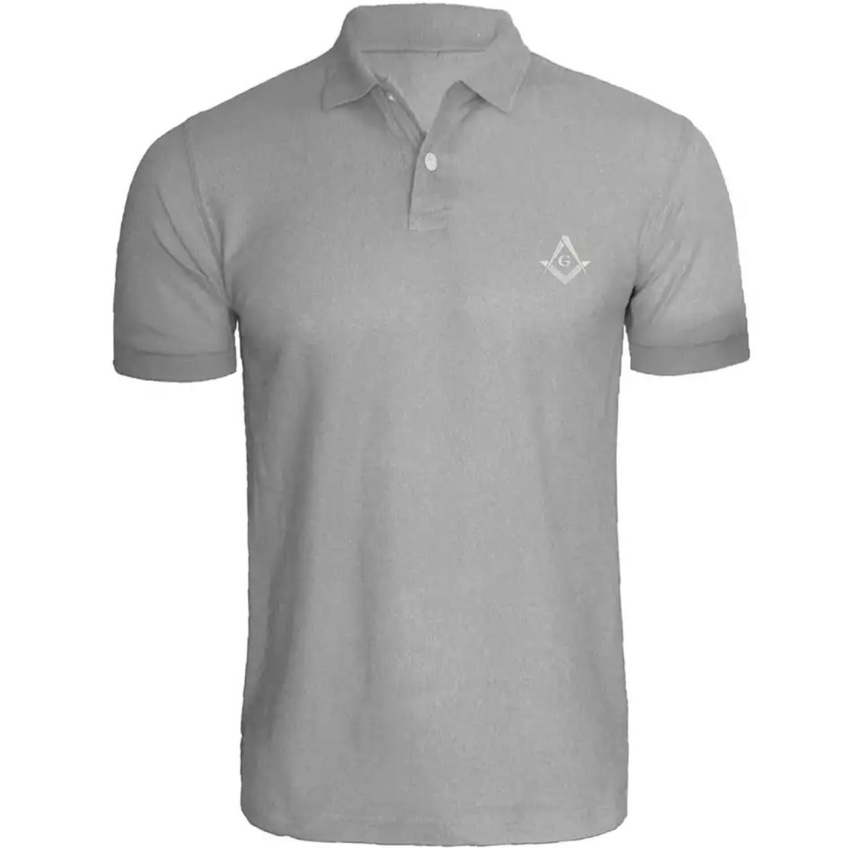 Camisa Polo Maçonaria - Branca