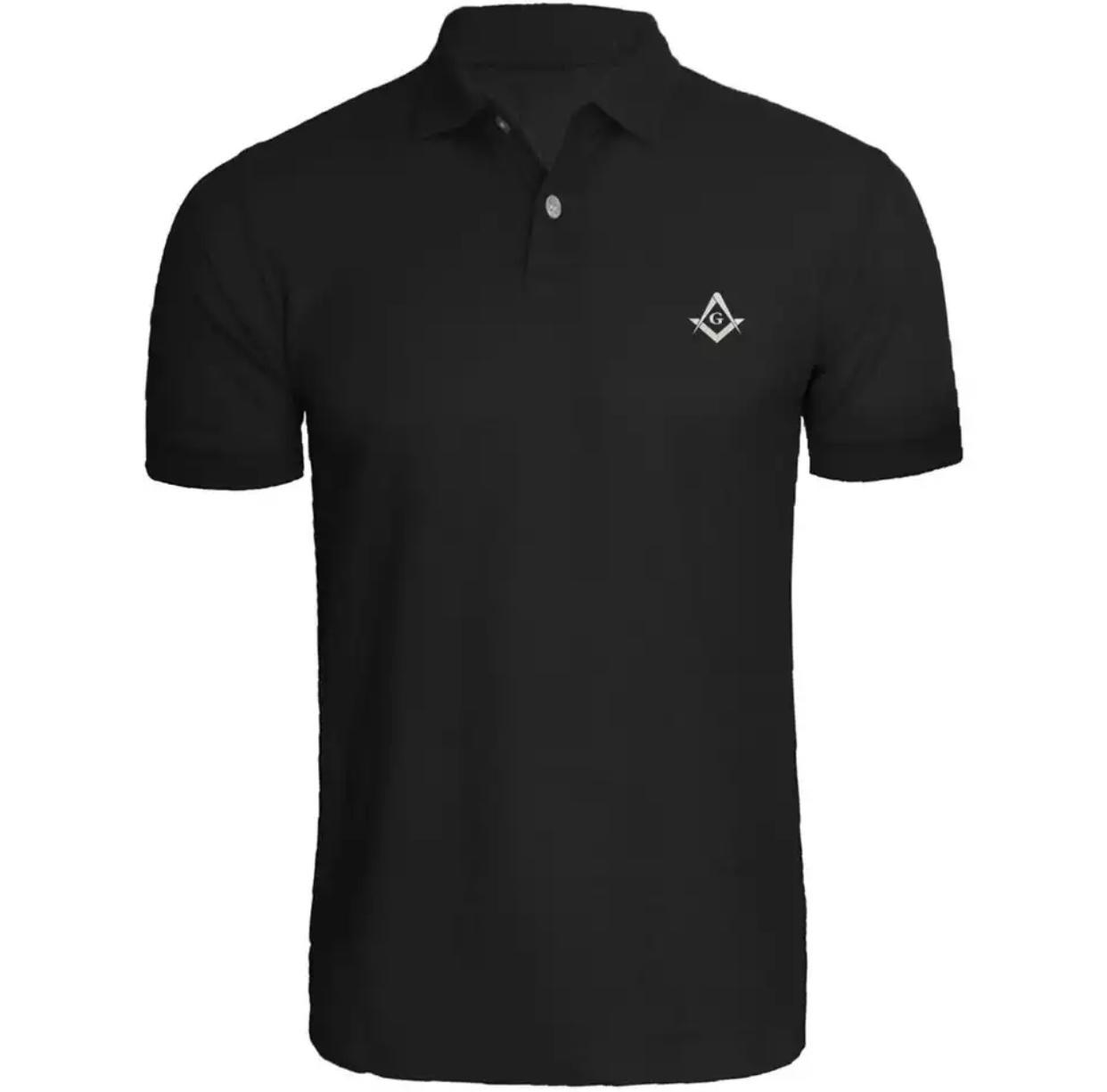 Camisa Polo Maçonaria - Preta