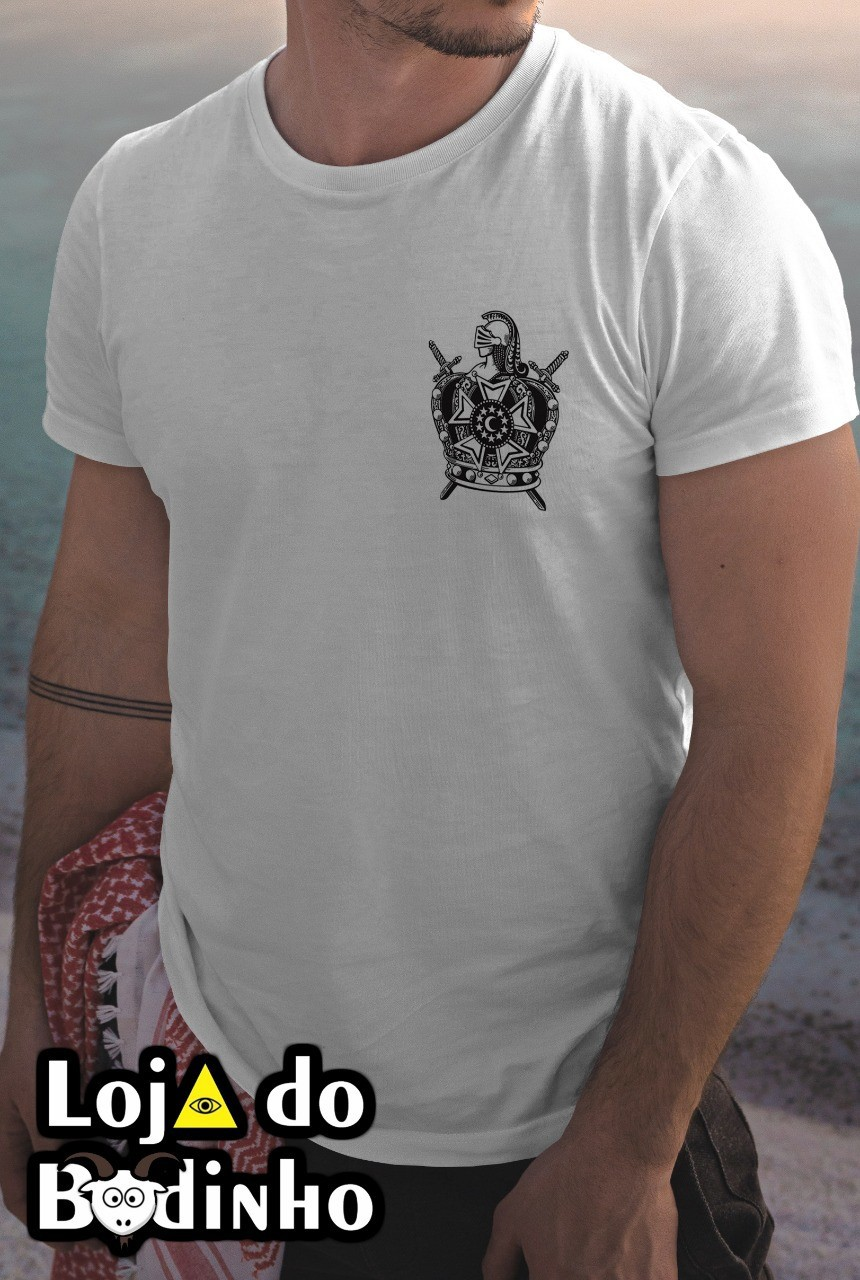 Camiseta - Brasão DeMolay - 2 Opções de cor.