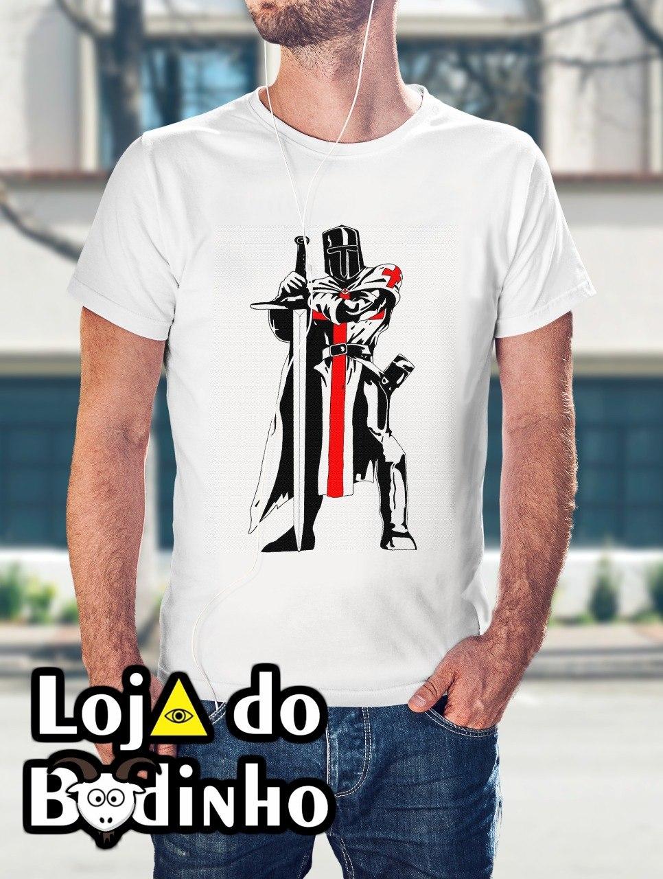 Camiseta Cavaleiro dos Templários mod. 04 - 3 Opções de Cores