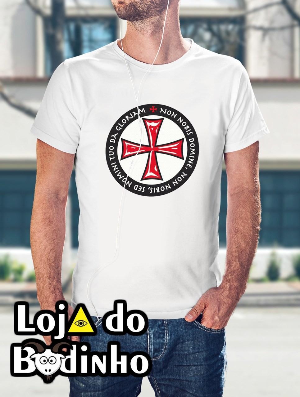 Camiseta Cruz Templária mod. 01 - 3 Opções de Cores
