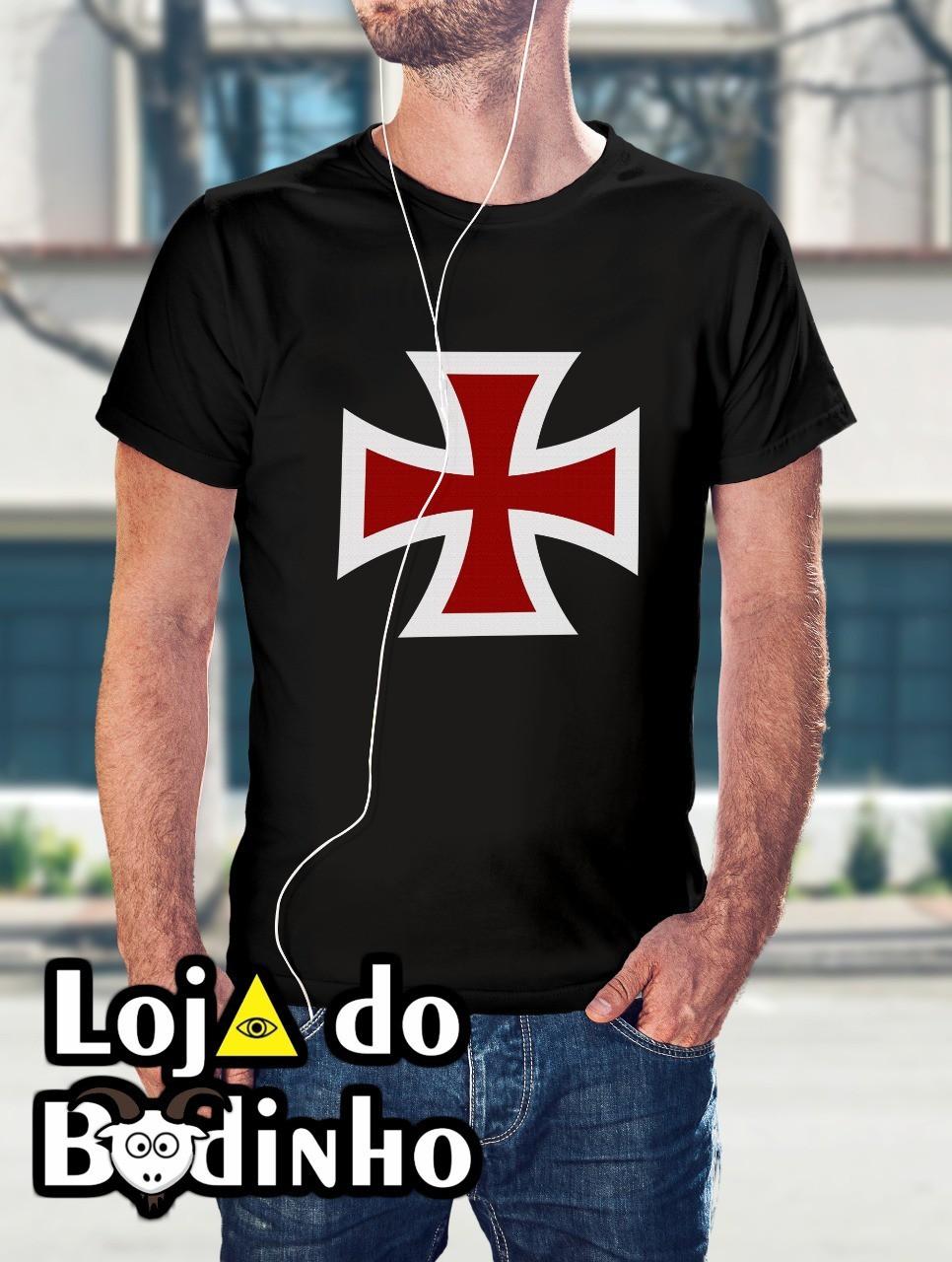 Camiseta Cruz Templária mod. 02 - 3 Opções de Cores