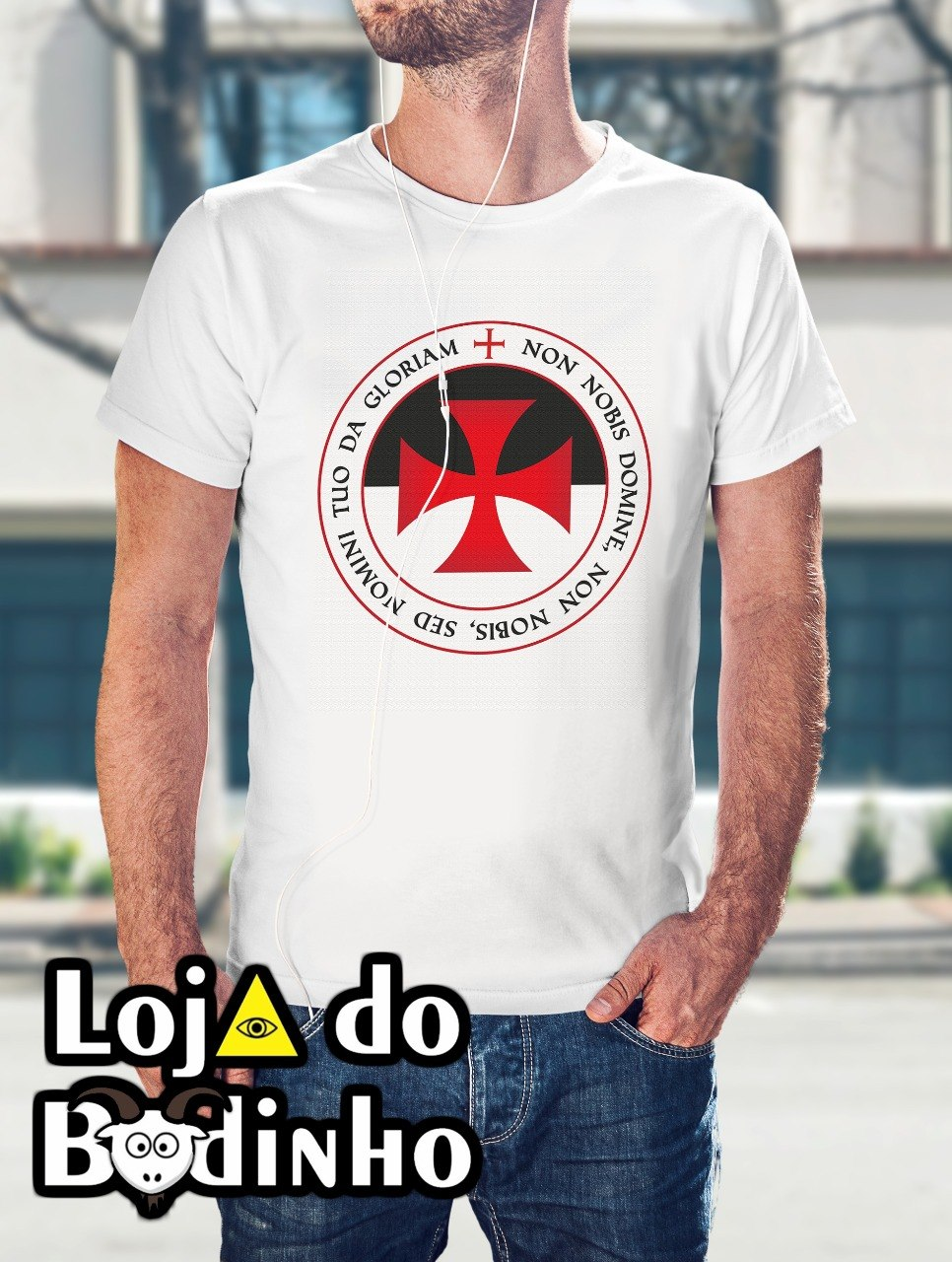 Camiseta Cruz Templária mod. 09 - 3 Opções de Cores