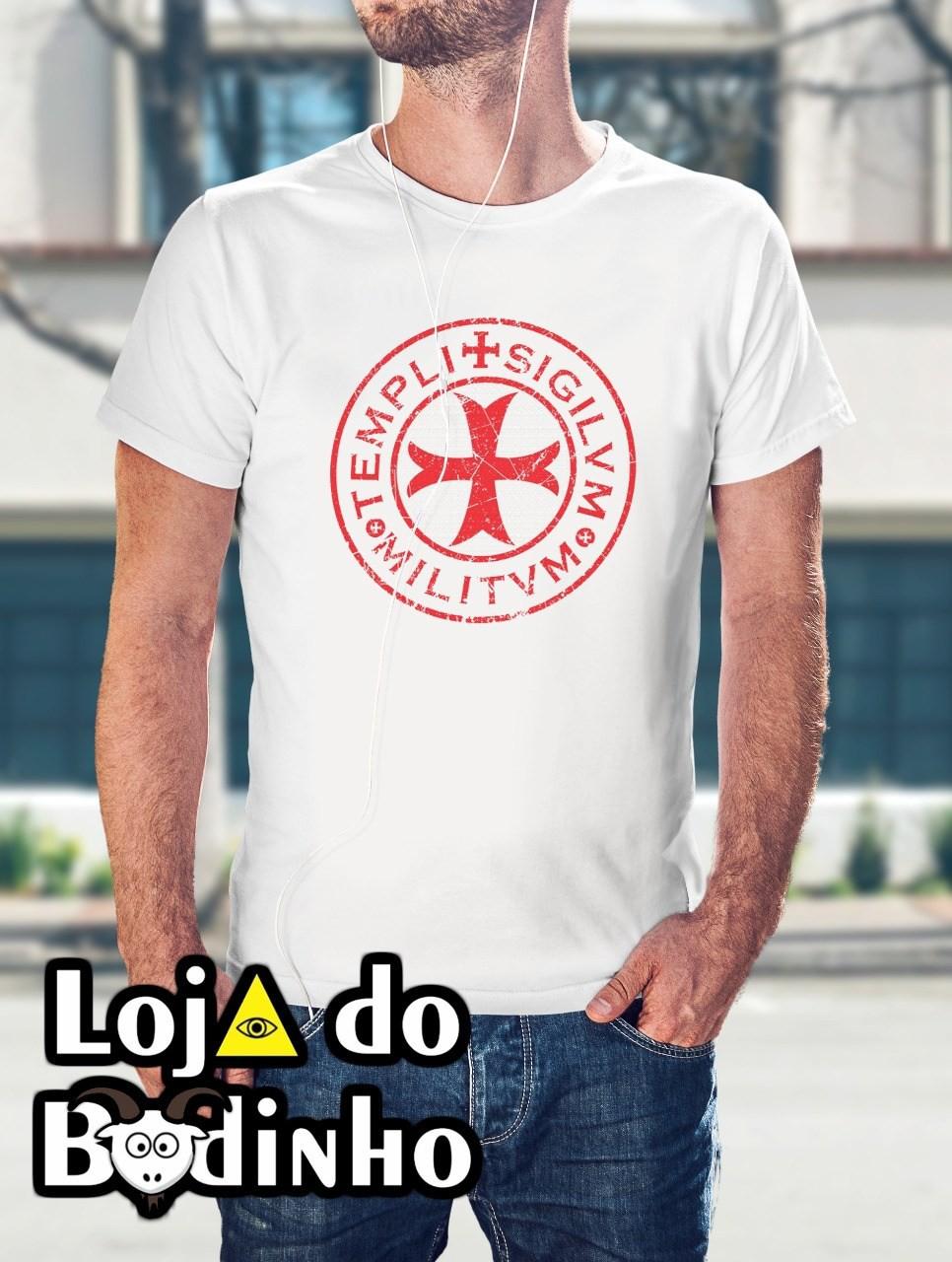Camiseta Cruz Templária mod. 10 - 3 Opções de Cores