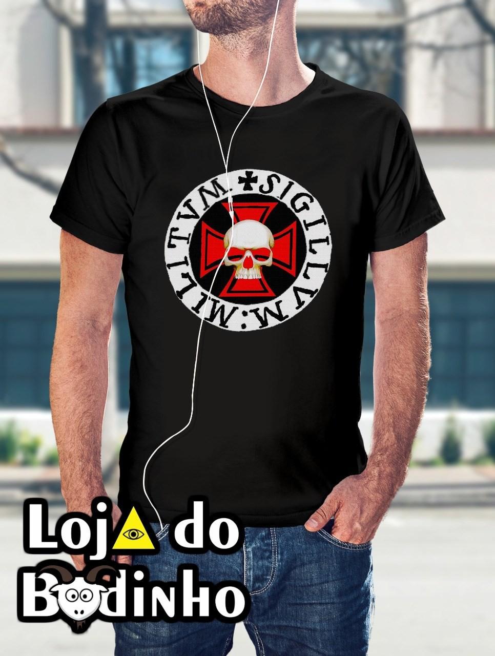 Camiseta Cruz Templária mod. 11 - 3 Opções de Cores