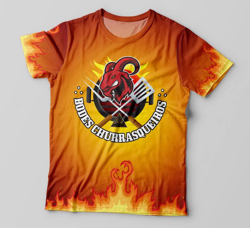 Camiseta Maçonaria Bodes Churrasqueiros - Fogo
