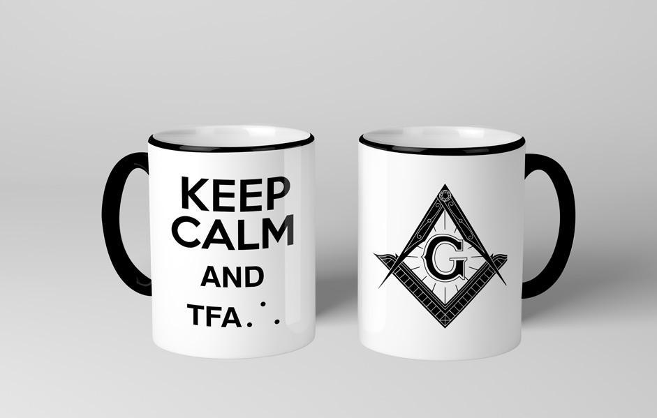 Caneca Maçonaria Keep Calm And TFA