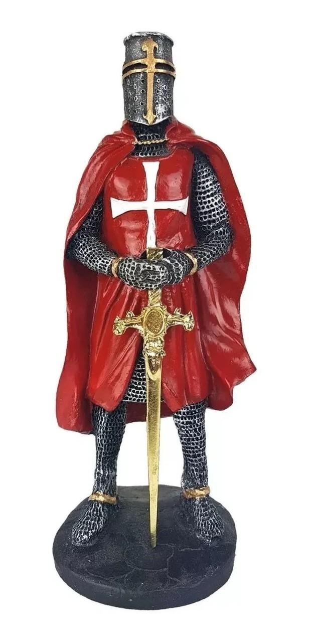 Estatua Cavaleiro Templário - Varias Cores.