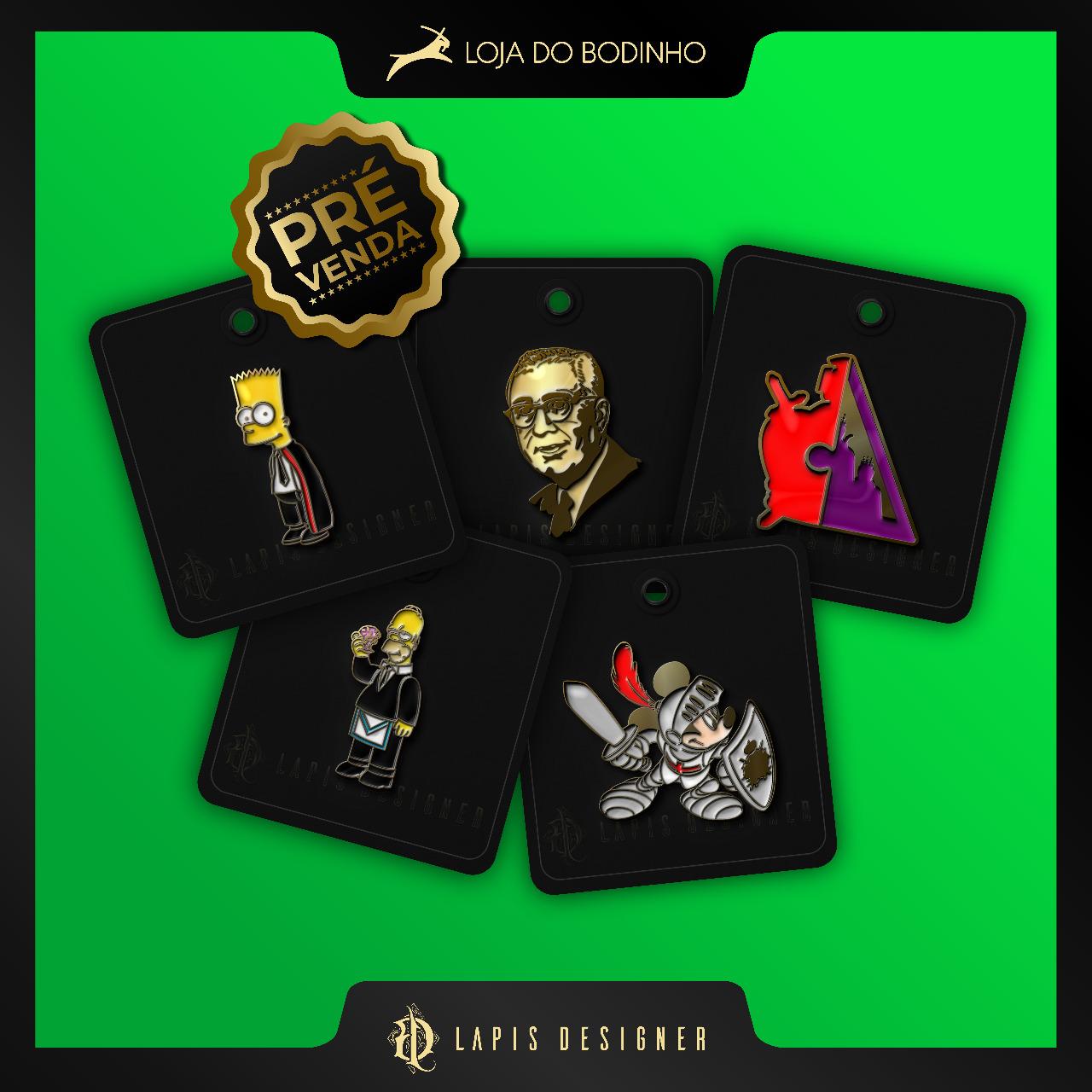 Combo Pré venda PIN DeMolay Colecionador 6 Pins Personagens  - Envio 15/10 (apenas 50 unidades)