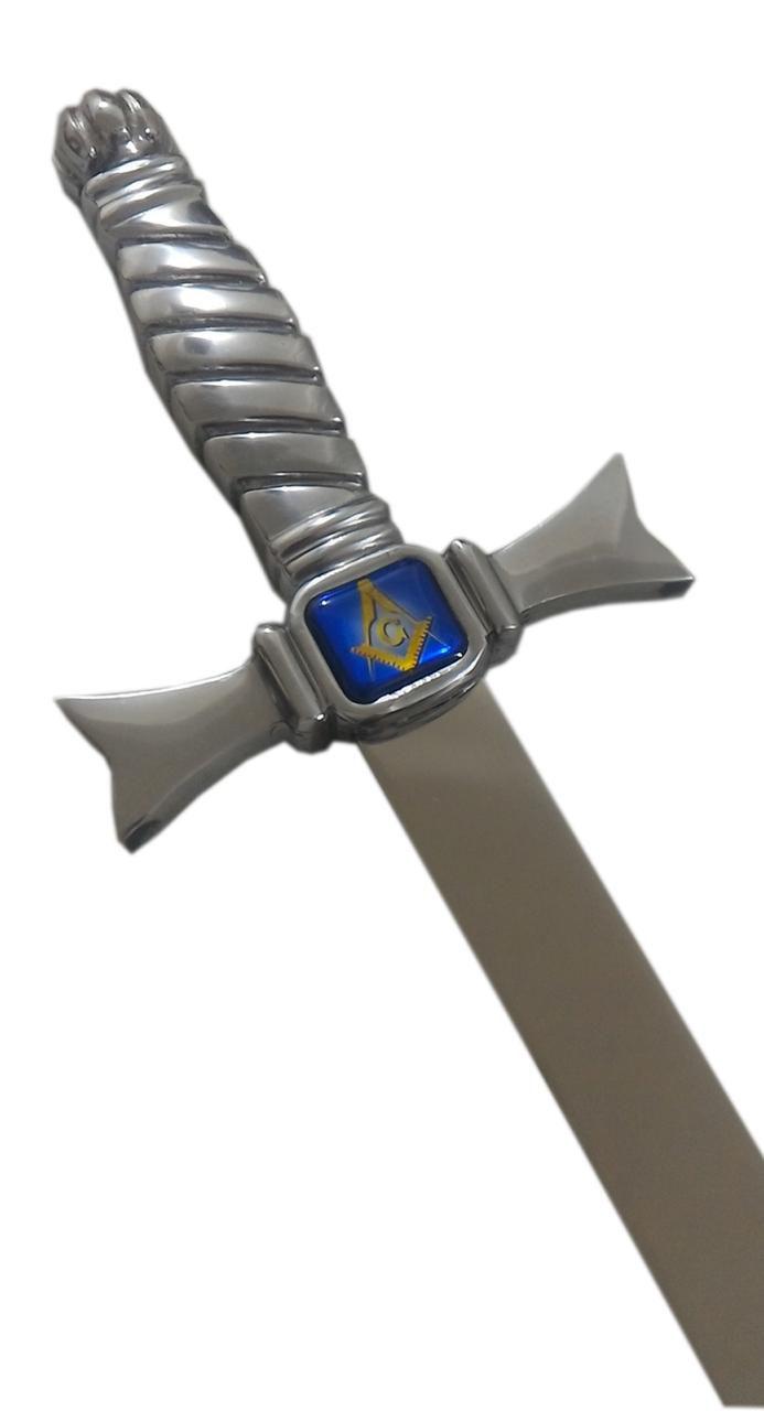 Espada Maçônica Mestre Prata com Azul