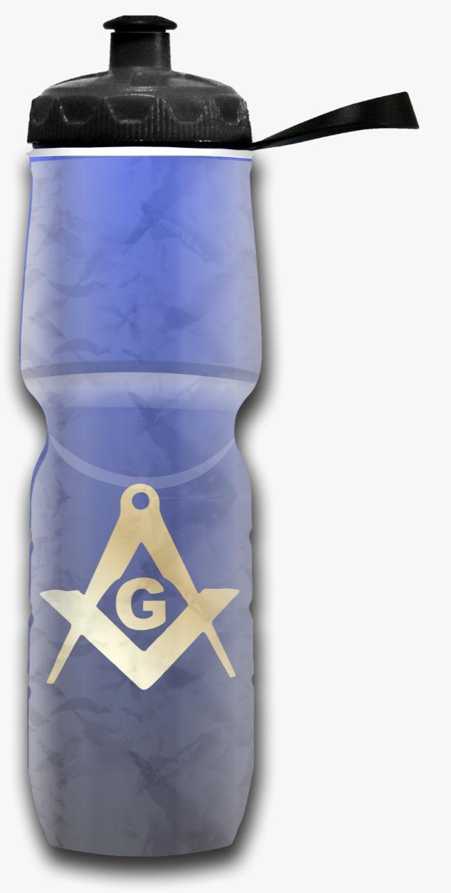Garrafa squeeze isotérmica Maçonaria Azul - 710 ml