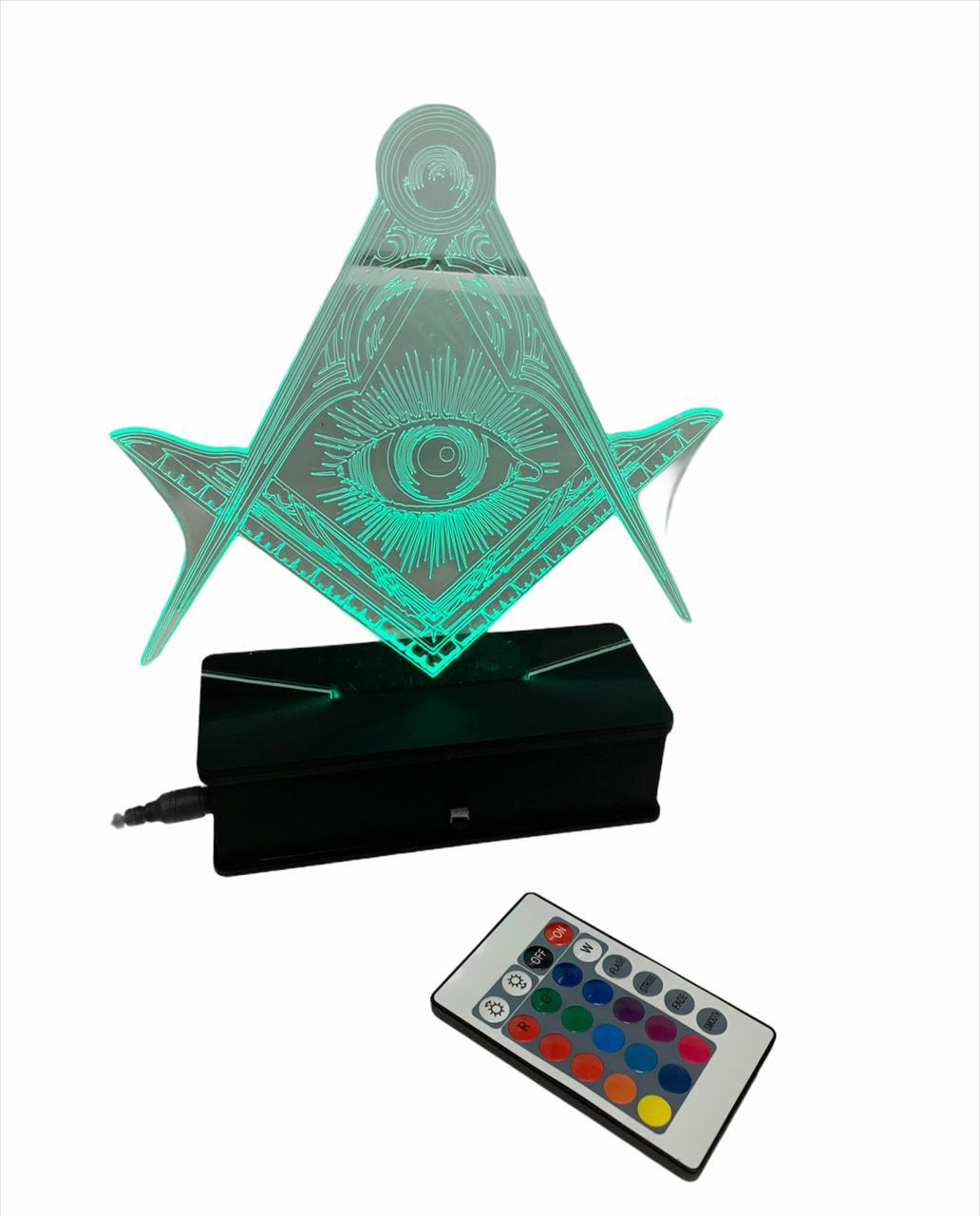 Luminária a controle remoto luz terapia - Varias intensidades de cor (escolha o modelo)