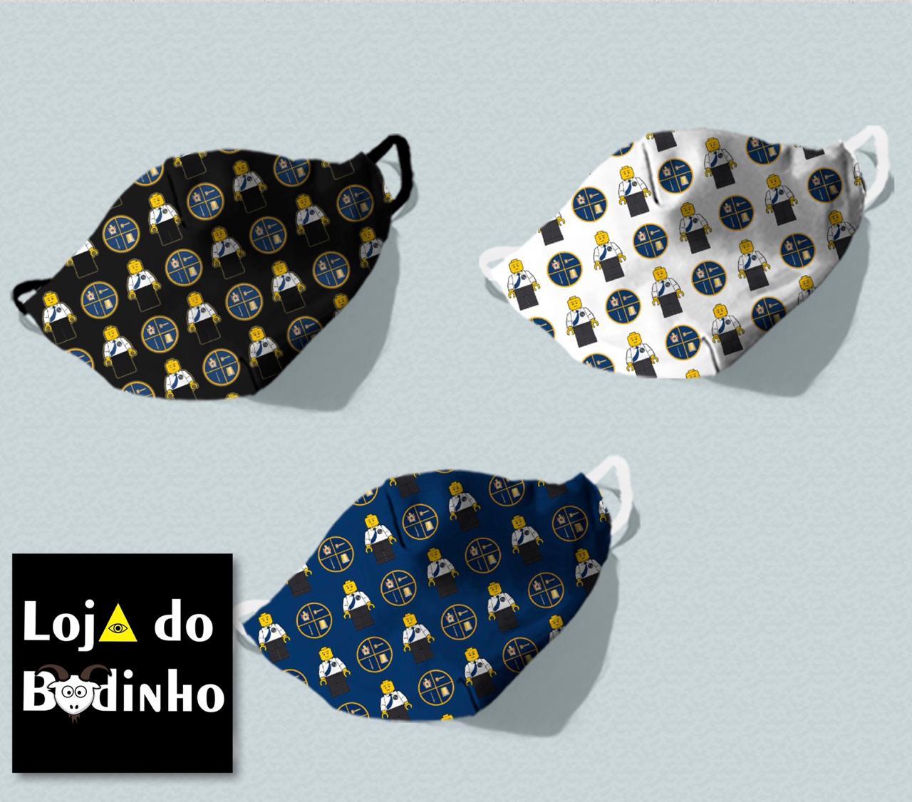 Mascara Távola Escudeiros - TAMANHO INFANTIL (forro duplo - dupla proteção)