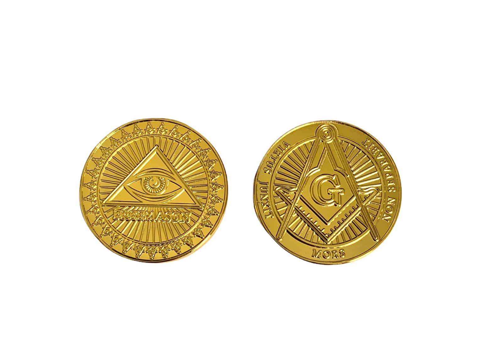 Moeda Maçonaria GOLD Freemason