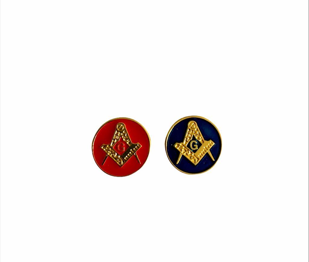 Novo Pin Esquadro e Compasso Redondo 1,5 x 1,5 cm (lançamento)