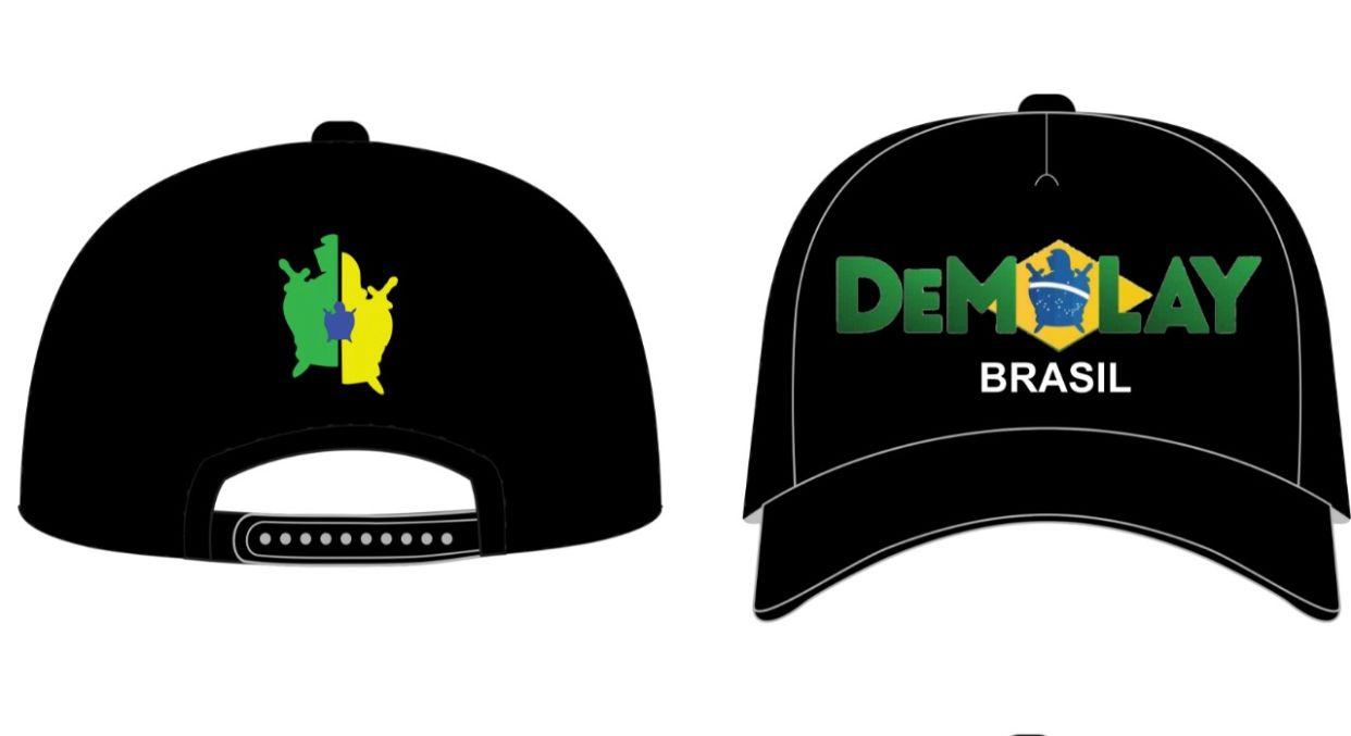 Pré Venda Novo Boné DeMolay Brasil Brasil Preto - Envio 07/10.