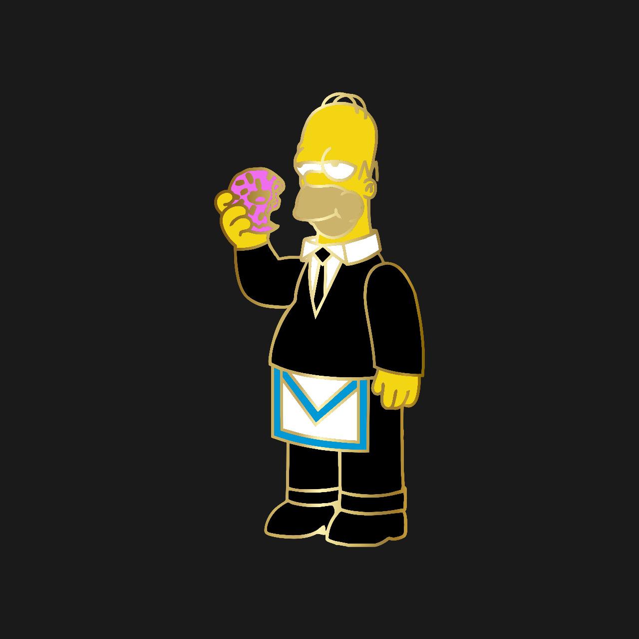 Pré venda PIN DeMolay Colecionador Personagens Homer Simpson - Envio 28/10 (apenas 50 unidades)