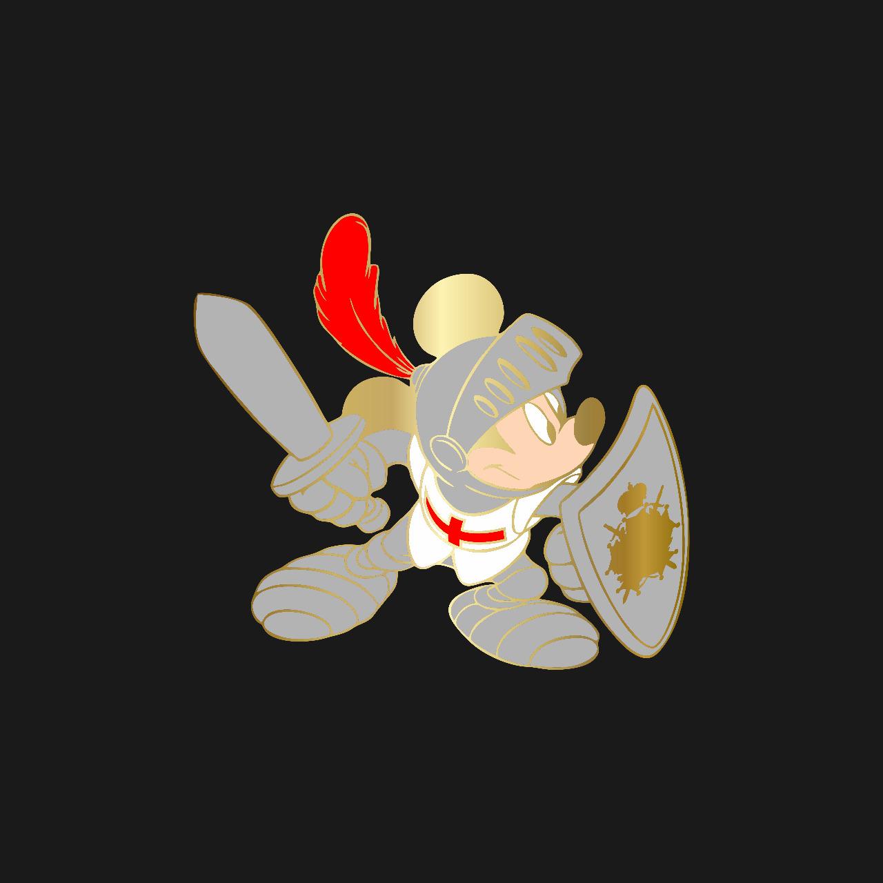 Pré venda PIN DeMolay Colecionador Personagens Mickey Cavaleiro - Envio 15/10 (apenas 100 unidades)