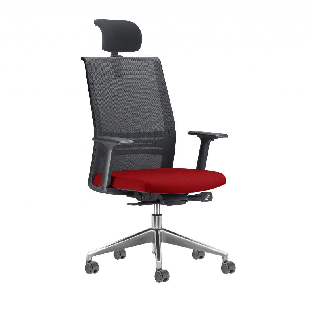 Cadeira Agile com Encosto Cabeça  base cromada FRISOKAR COD 37