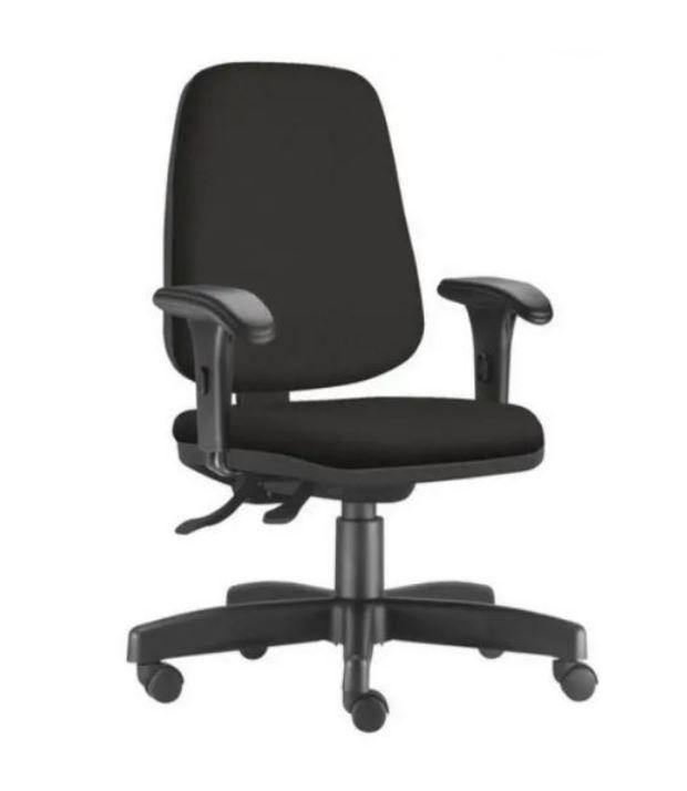 Cadeira de Escritório Diretor JOB Giratória - Crepe Preto - Frisokar COD 233