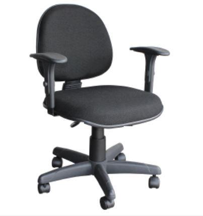 Cadeira Digitador com Lâmina Braço Regulável Giratória com Rodinhas COD 47