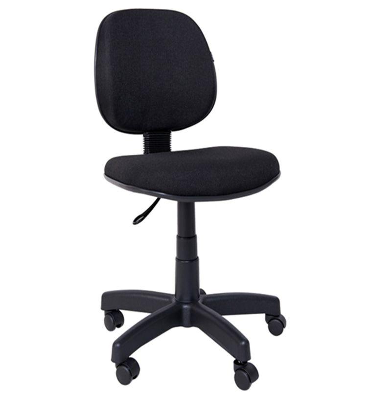 Cadeira digitador com lâmina revestida em tecido, base giratória com regulagem de altura a gás COD 152
