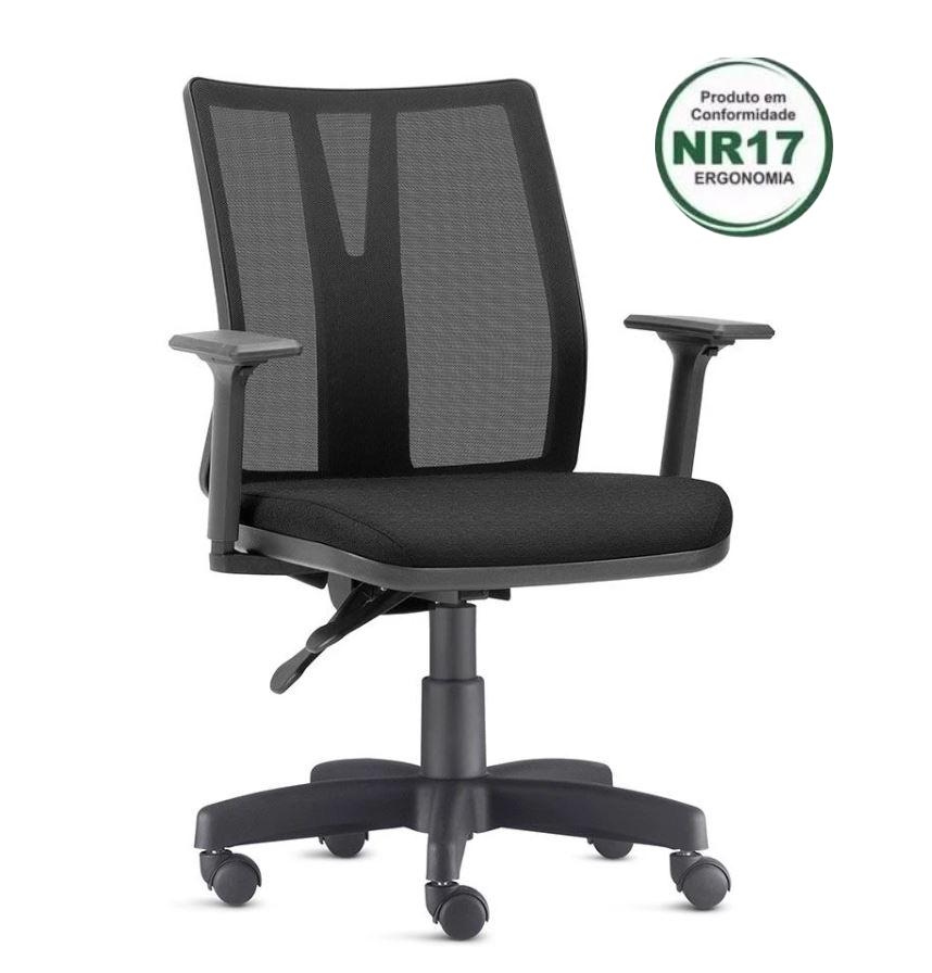 Cadeira Ergonômica Addit Regulável para Escritório Home-Office com Rodinhas FRISOKAR COD 62