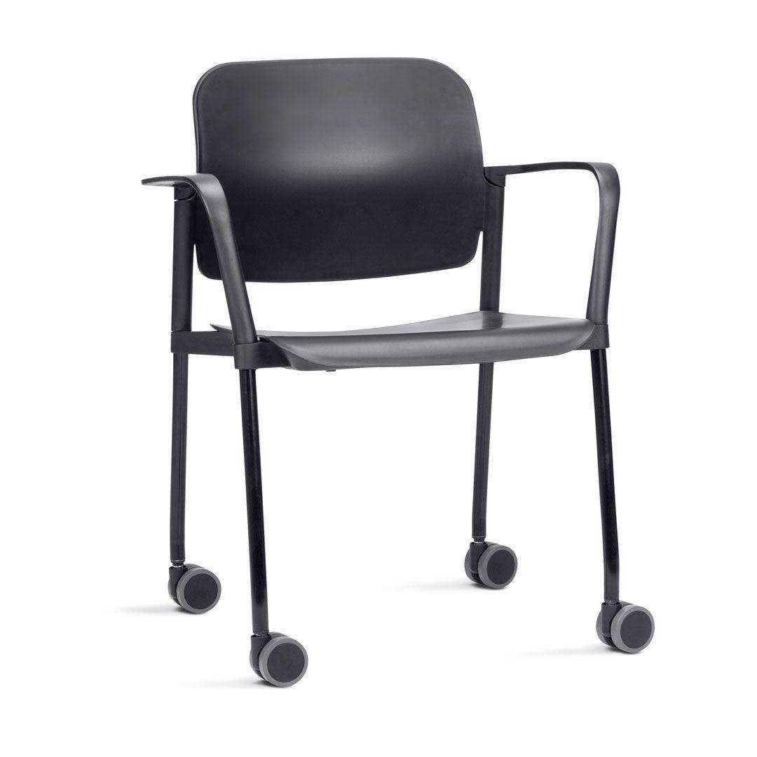 Cadeira Escritório Leaf com Braço e Rodinhas FRISOKAR COD 71