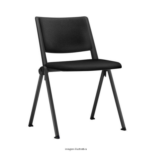 Cadeira Escritório UP Fixa com ASSENTO TAPEÇADO E ENCOSTO EM PP FRISOKAR COD 89