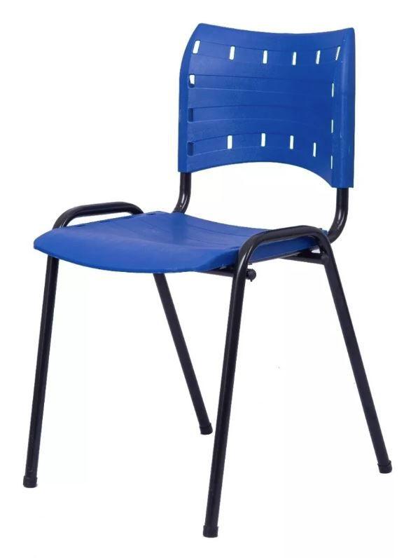 Cadeira Compacta Fixa empilhável Ideal para Recepção Escolas Secretaria Escritório Interlocutor COD 96