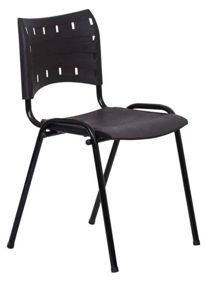 Cadeira Compacta Preta Plástica Igreja Recepção  SUPER PROMOÇÃO!!!  COD 221
