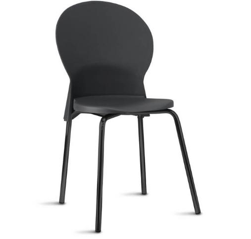 Cadeira Luna FIxa ESTRUTURA PRETA FRISOKAR COD 2046