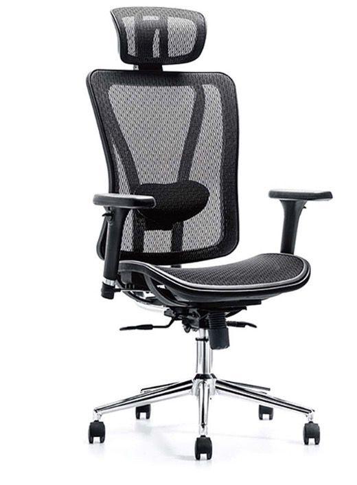 Cadeira Presidente Confort Escritório Home-Office Ergonômica com Encosto Cabeça Giratória com Rodinhas com Braço FRISOKAR COD 130