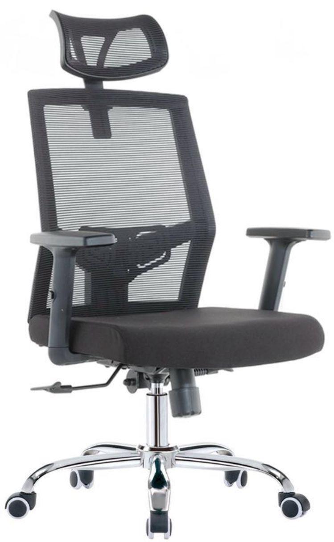 Cadeira Presidente Escritório Home-Office Encosto de Cabeça com Encosto Cabeça Giratória com Rodinhas com Braço COD 131