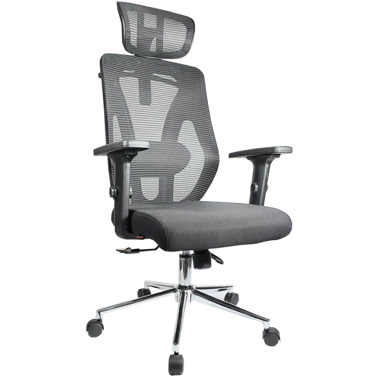 Cadeira Presidente Tela MK-4010 - MAKKON - COR PRETO COD 492
