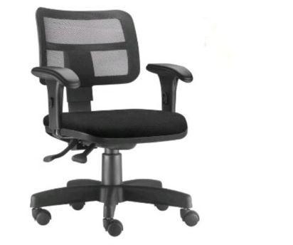 Cadeira Zip NR17 encosto com tela e assento na cor preta  COD 164