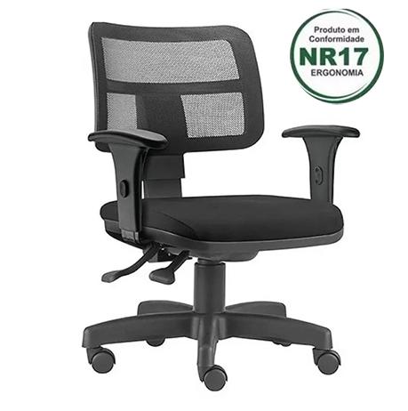 Cadeira Zip NR17 encosto com tela e assento na cor preta COD 164 SUPER PROMOÇÃO!!!